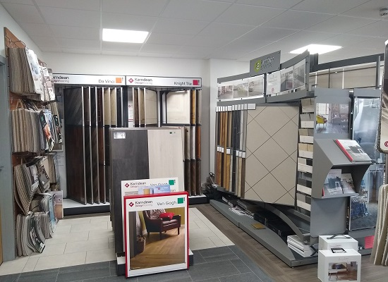 Interior of our Plymouth Flooring Showroom