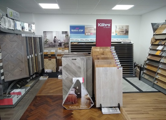 Interior of our Plymouth Flooring